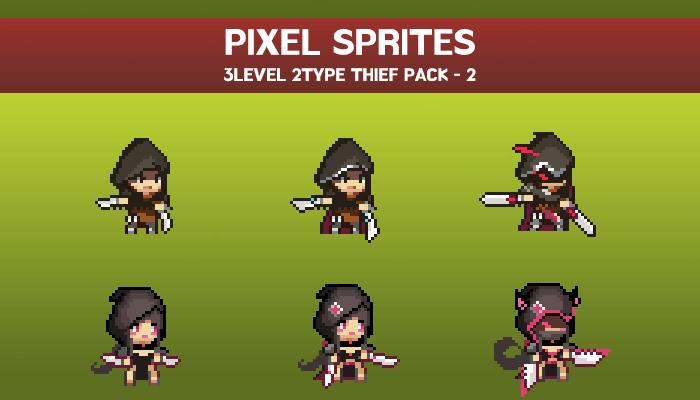 FANTASY PIXEL THIEF SPRITE-2