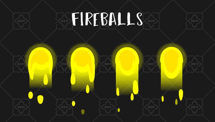 Animated fireballs