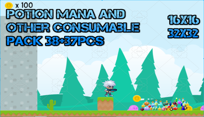 Potion Mana and other Consumable Bottle Pack
