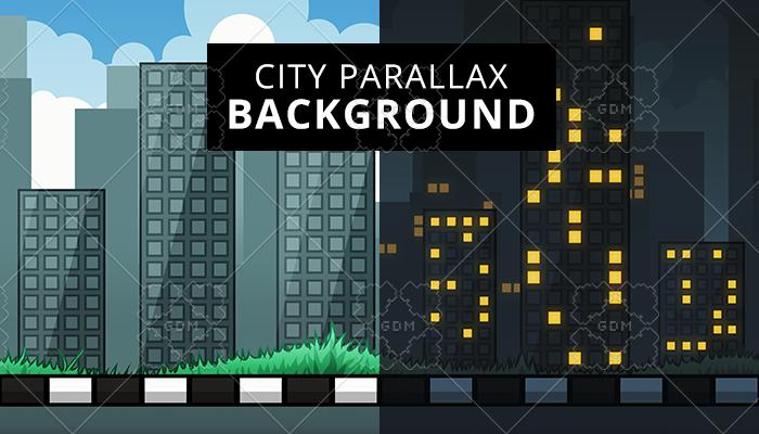 City parallax background