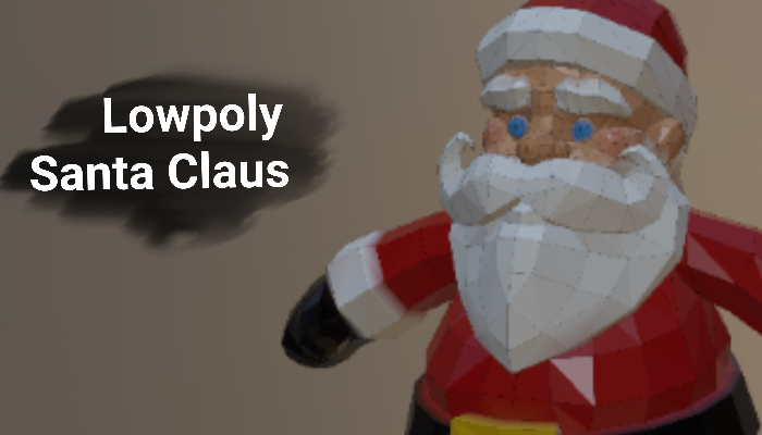 Lowpoly Santa Claus