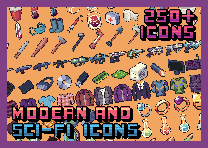 Modern and Sci-Fi Icon Pack 32×32 (250+ icons)