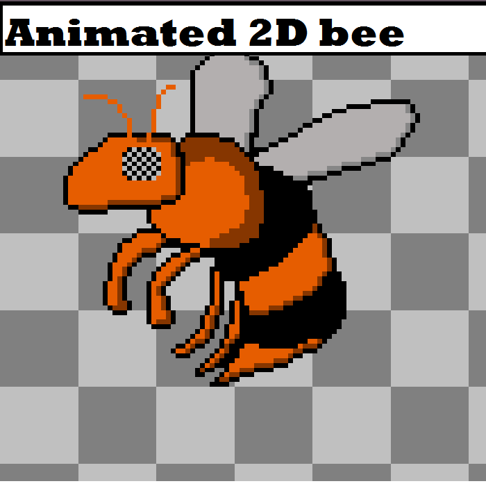 Animated 2D Bee