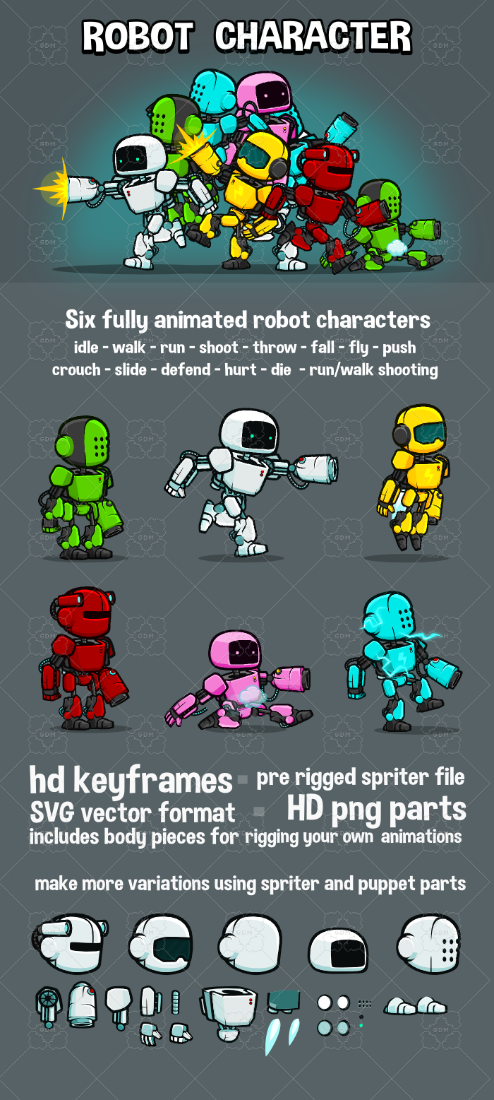 Robot character pack