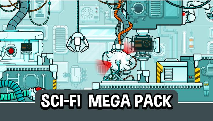 Mega sci-fi scene creation pack