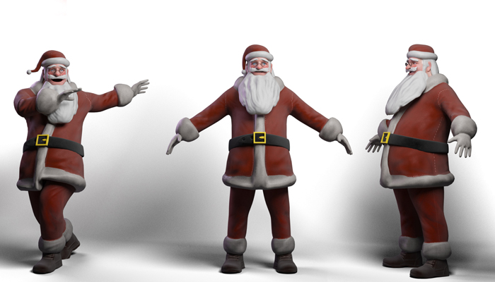 Santa Claus rigged Low-poly