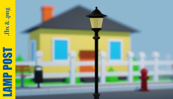 3D Lamp Post – Low Poly – FREE