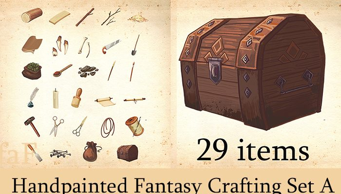 Fantasy Crafting Illustrations Set – 29 Items