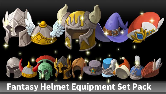Fantasy Helmet Equipment Set Pack