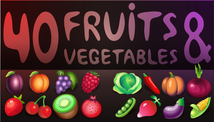 40 fruits and vegetables