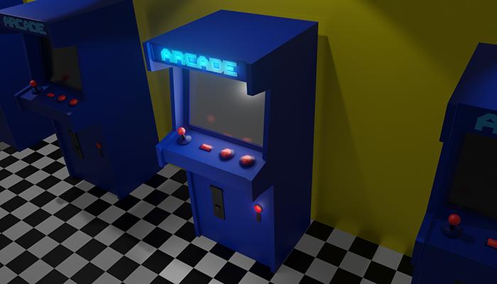 Low Poly Retro Arcade Machine