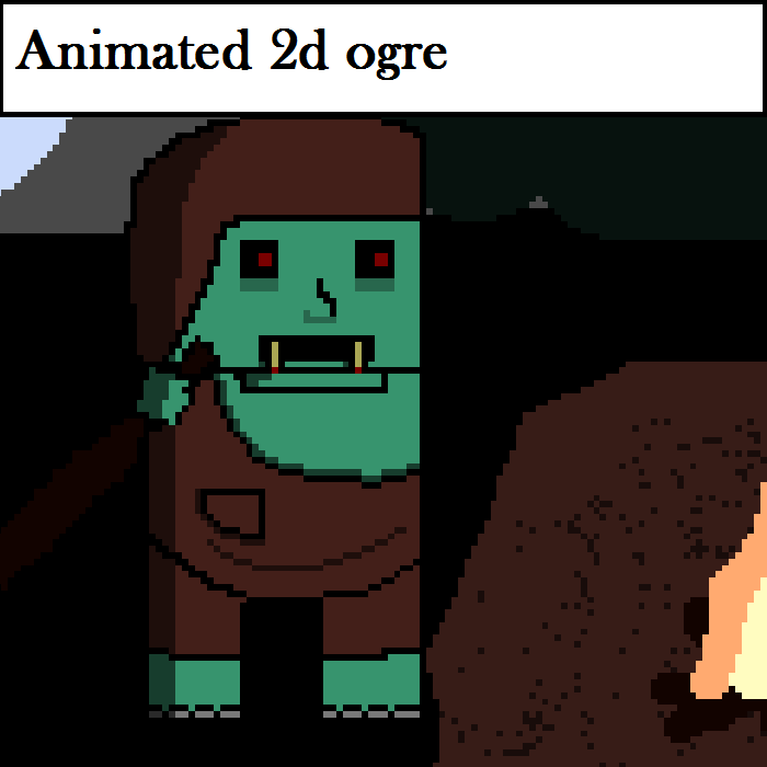 Animated 2D Ogre