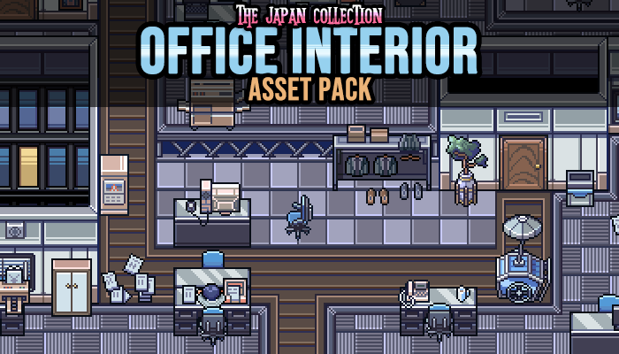 Japanese Office Interior Game Assets