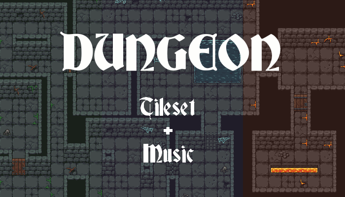 Dungeon tileset + Music pack
