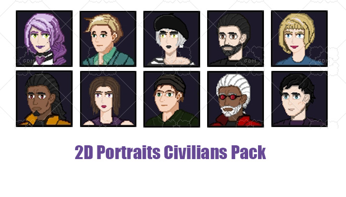 2D Portraits Civilans Pack