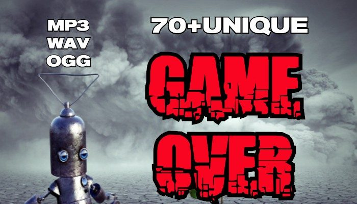 70+Unique GAME OVER voice files