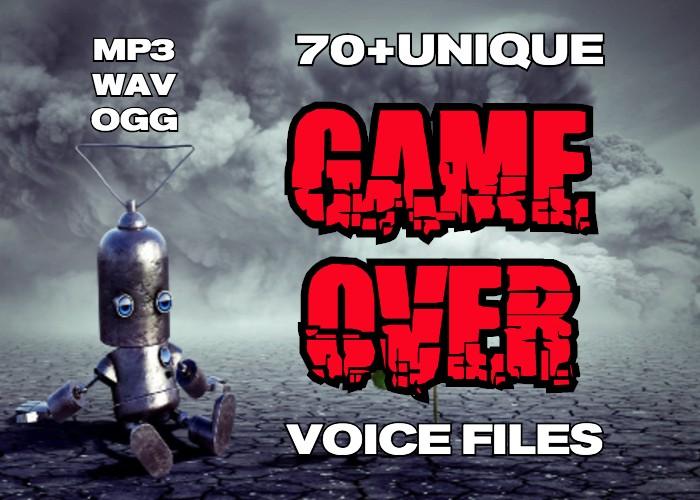 70+Unique GAME OVER voice files