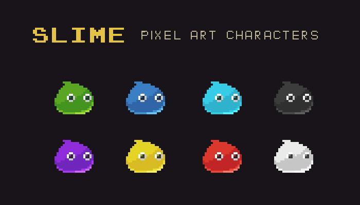 Slime Pixel Art Monster