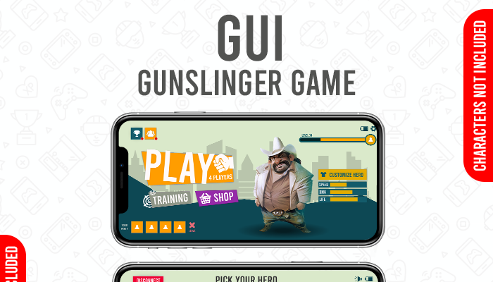 Online Guns Shooting Game GUI