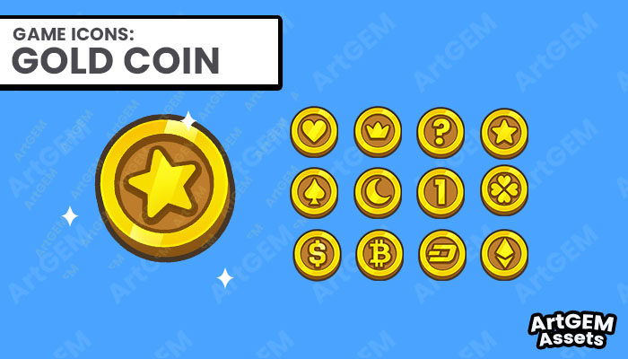 Gold Coin Dollar Currency Pack for IAP