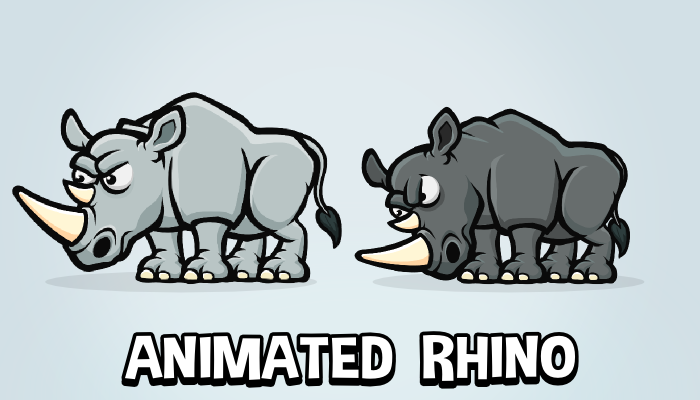 Animated rhinoceros