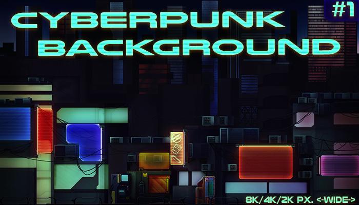 Cyberpunk city background