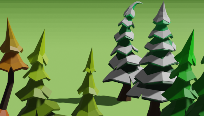 Low Poly Pine Trees