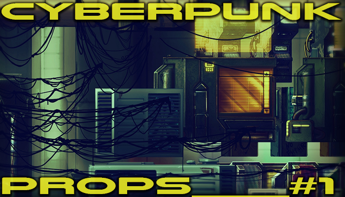 Сyberpunk city props