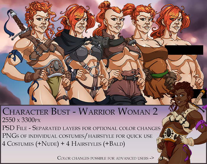 Warrior Woman 2 Character Bust