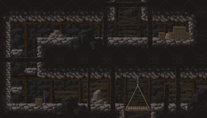 PixelArt Mine/Cave Platformer Asset. #3
