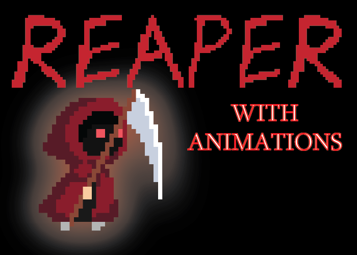 Pixel Art Reaper Character (With Animations)