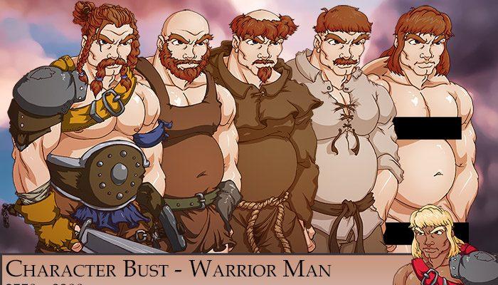 Warrior Man Character Bust