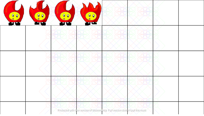 Fire character animated sprite