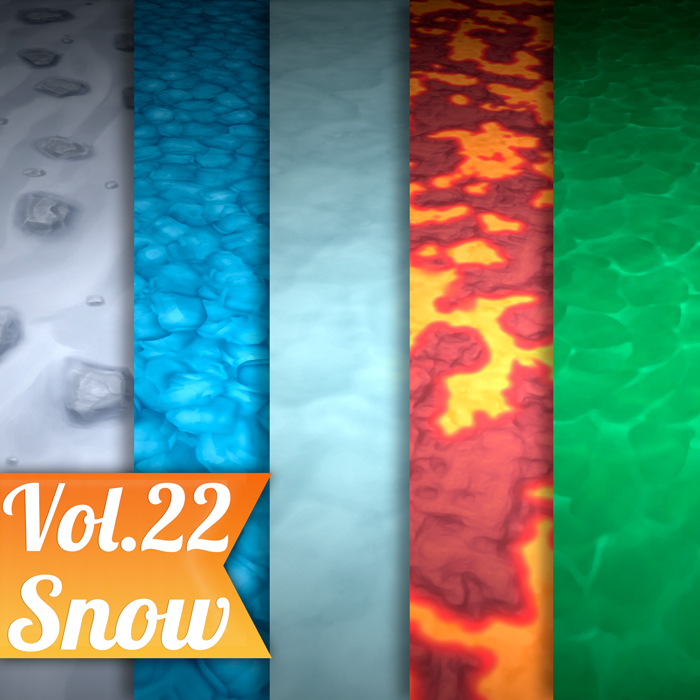 Stylized Ground Mix Vol 22 – Hand Painted Textures