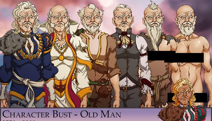 Old Man Character Bust