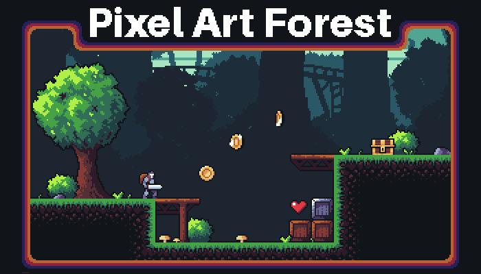 Pixel Art Fantasy Forest