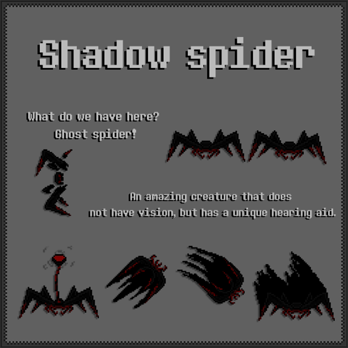 Shadow Spider – Mob Asset