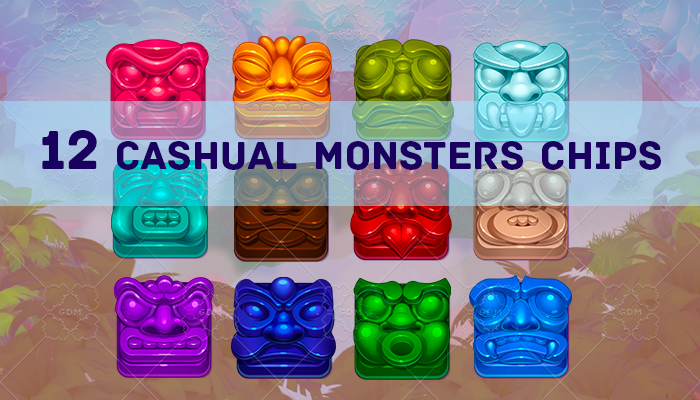 Casual chips monsters