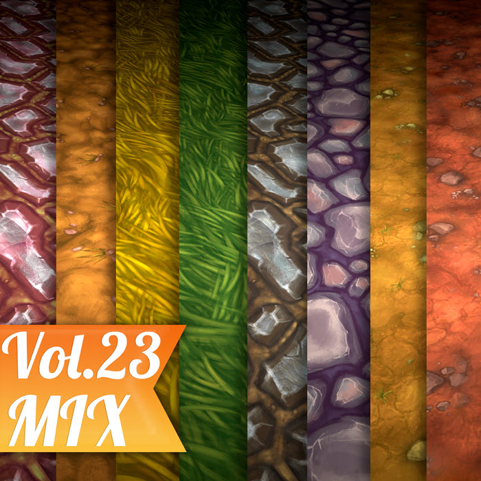Stylized Ground Mix Vol 23 – Hand Painted Textures
