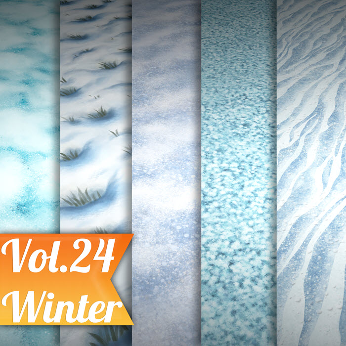 Stylized Snow Vol 24 – Hand Painted Texture