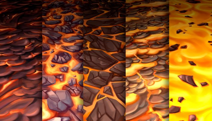 Stylized Lava Vol 28 – Hand Painted Texture