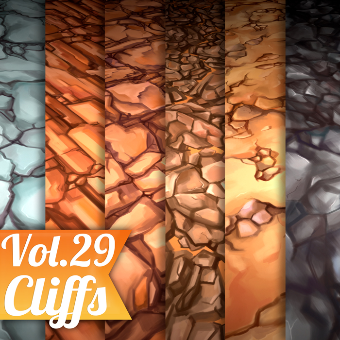 Stylized Cliffs Vol 29 – Hand Painted Texture