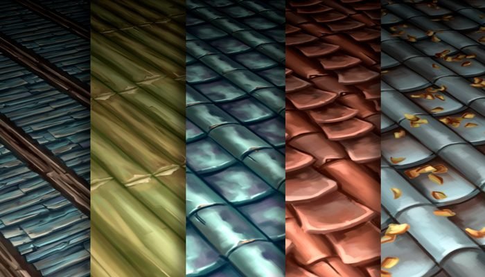 Stylized Roof Vol 30 – Hand Painted Texture