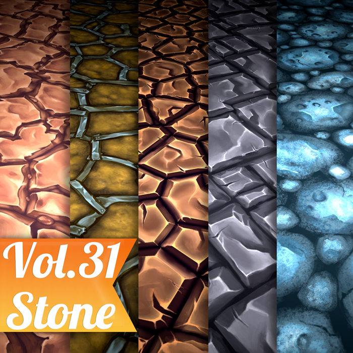 Stylized Stone Vol 31 – Hand Painted Textures