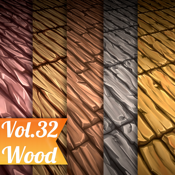 Stylized Wood Vol 32 – Hand Painted Texture