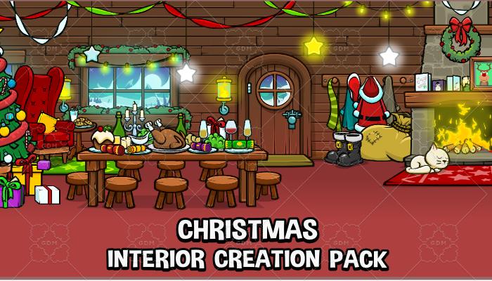 Christmas interior scene
