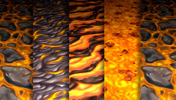 Stylized Lava Vol 35 – Hand Painted Textures