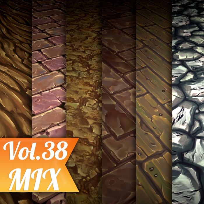 Stylized Ground Mix Vol 38 – Hand Painted Textures