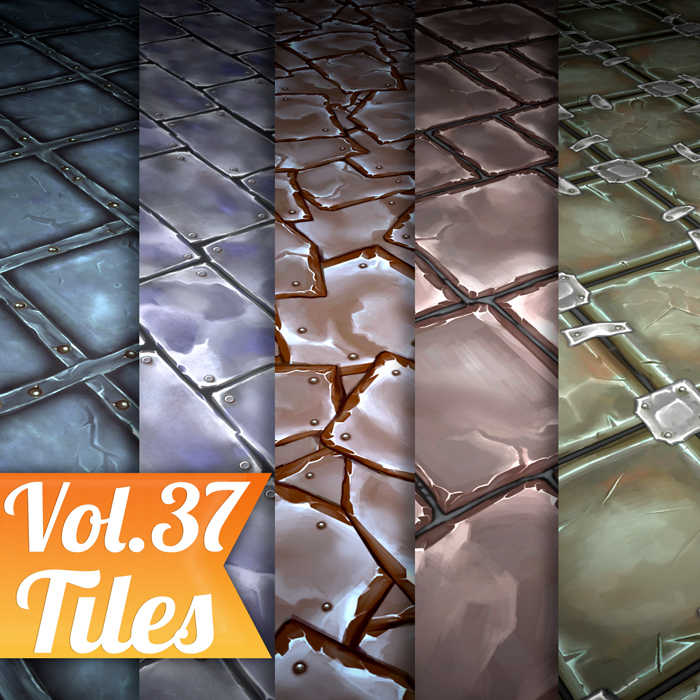 Stylized Tiles Vol 37 – Hand Painted Textures
