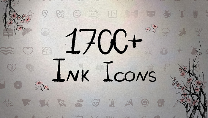 1700+ Hand-drawn ink UI icons